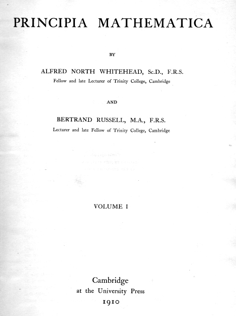 principia mathematica > title page of the first edition of  title page first edition principia mathematica volume 1