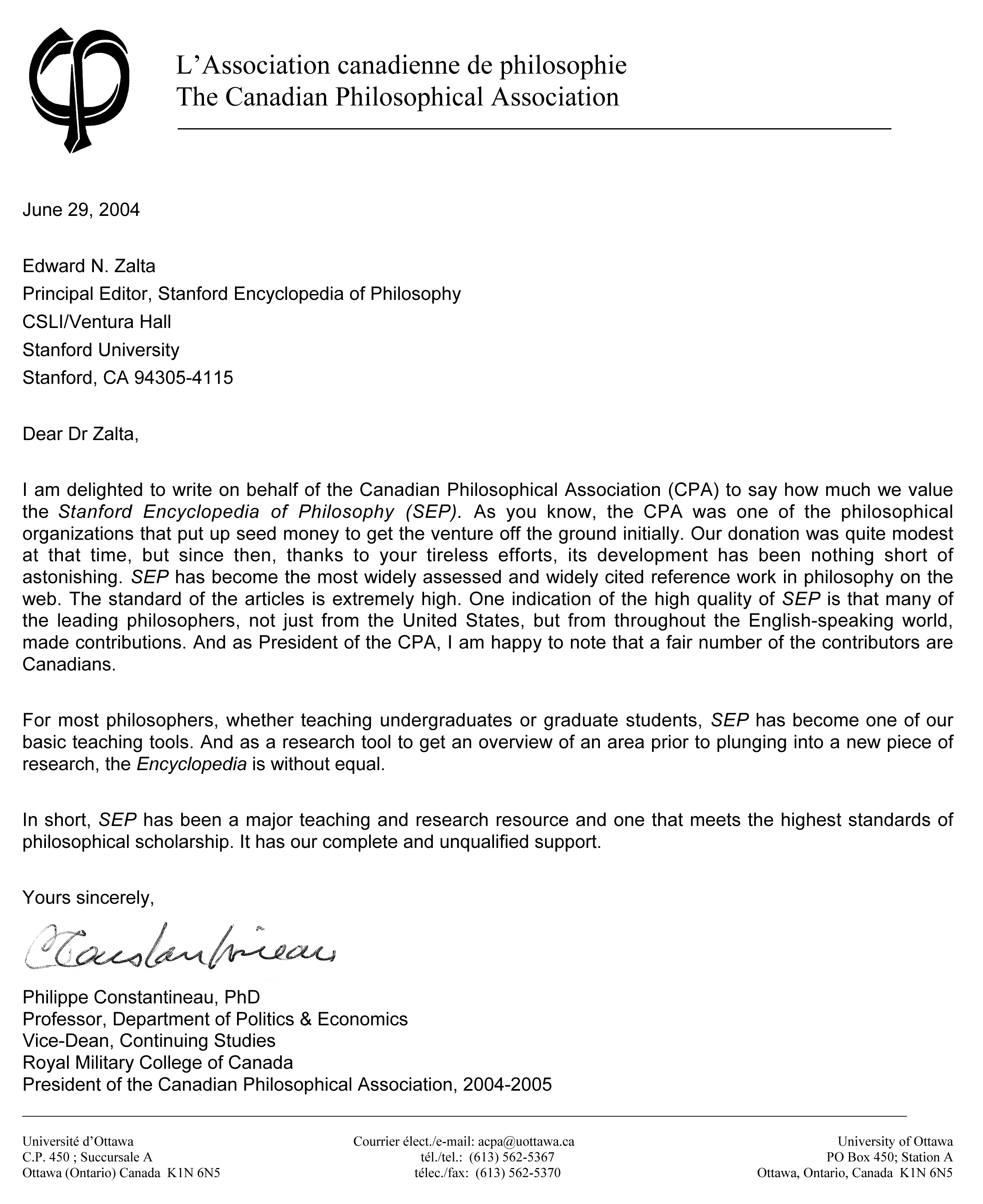 cpas letter in support of neh grant - Fundraiser Cover Letter